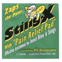 Coretex Products Stingx with Pain Relief Pad