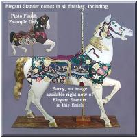 Elegant Stander Pinto Carousel Horse