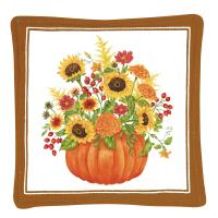 Alice's Cottage Pumpkin Bouquet Single Mug Mat