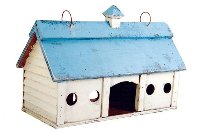 Songbird Essentials Blue Stable Bird Feeder Small