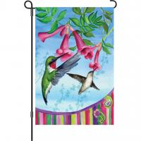 Premier Designs Hummingbirds with Paisley Garden Flag