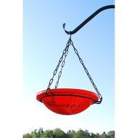 Achla Red Crackle Hanging Birdbath