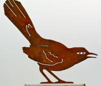 Elegant Garden Design Mockingbird Bird Silhouette