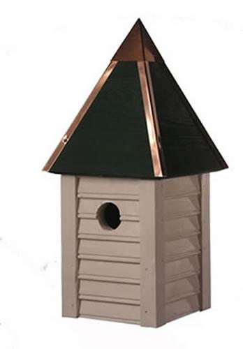 Heartwood Gatehouse Birdhouse, Whitewashed