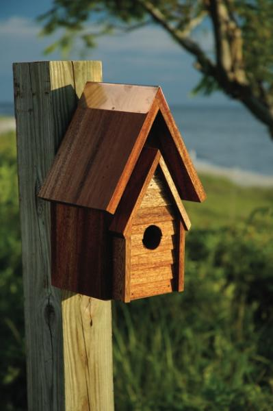 Heartwood Wrental House Birdhouse, Mahogany