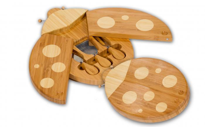 Picnic Plus Lady Bug Cheese Board and Tool Set