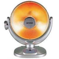 "Optimus H-4438 14"" Energy-Saving Oscillating Dish Heater with Remote Control"