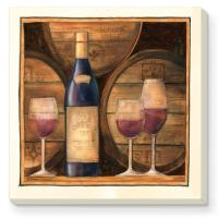 Counter Art Barrels of Wine Coasters Set of 4