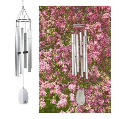 Woodstock Chimes Windsinger Chimes of Athena - Silver