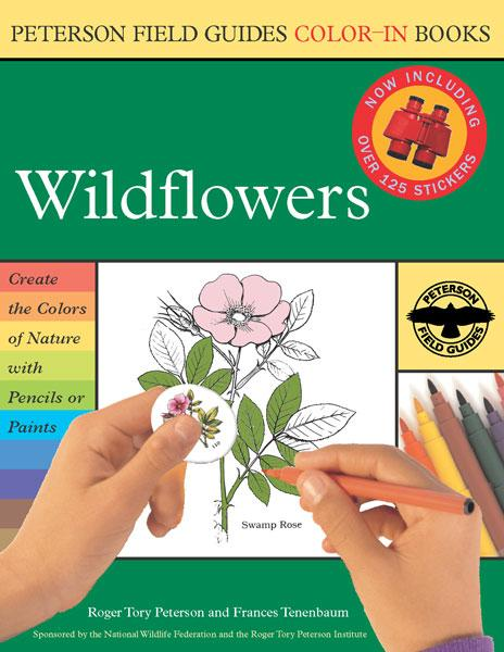 Peterson Books Wildflower Color-In-Book