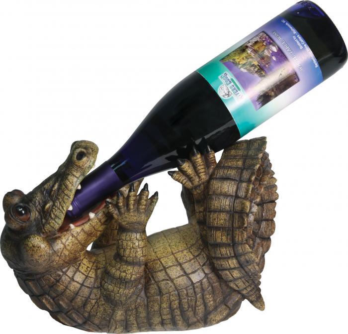Rivers Edge Products Alligator Wine Bottle Holder