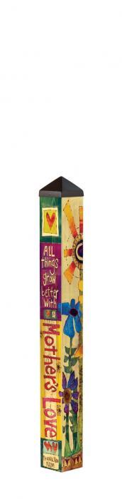Magnet Works Love Mom 3' Art Pole 4x4 +FRT