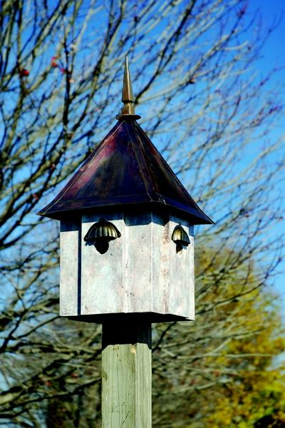 Heartwood Avian Meadows Birdhouse, Old World Finish with Brown Patina Roof