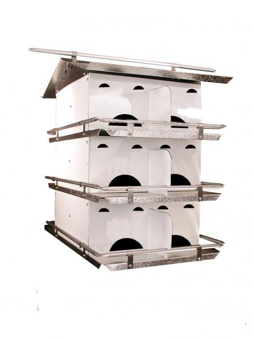 Bird's Choice Assembled SREH 3 Floor Purple Martin House
