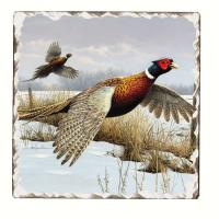 Counter Art Game Birds Tumbled Tile Trivet