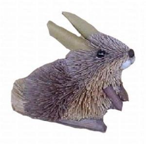 Brushart Rabbit Grey Ornament