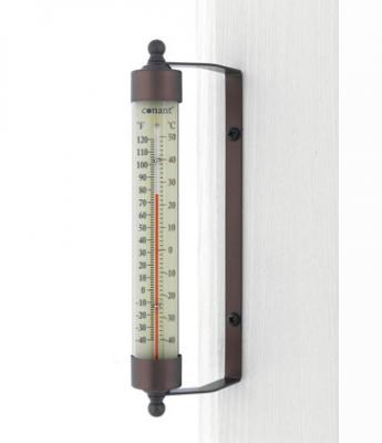 Conant Custom Brass Indoor Outdoor Thermometer Bronze Patina Finish