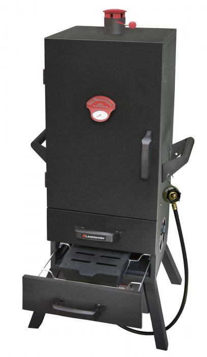 "Landmann 34"" Gas Easy Access 2 Drawer Vertical Smoker"