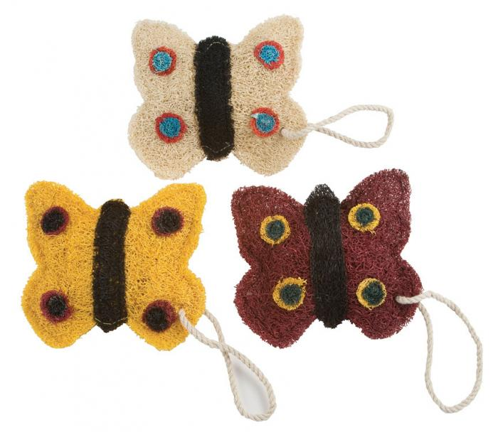 Loofah Art Butterflies (Assorted Colors)