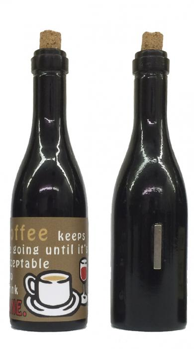 Grape Memories Coffee keeps me going until it's acceptable to drink wine! Clever Saying Magnet