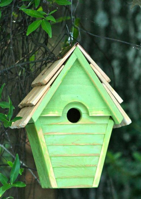 Heartwood Wren-In-The-Wind Birdhouse, Green Apple