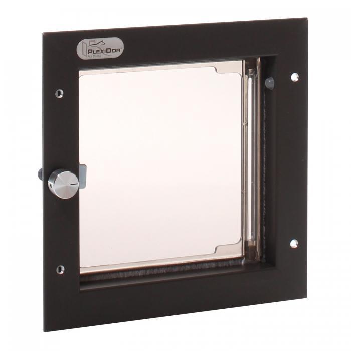 PlexiDor Small Exterior Door Application Performance Pet Door, Bronze