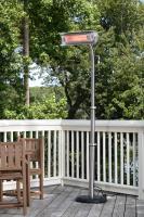 Fire Sense 1500 Watt Electric Infrared Offset Telescoping, Stainless Steel Pole-Mounted Patio Heater