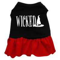 Wicked Dog Dress - Red Med