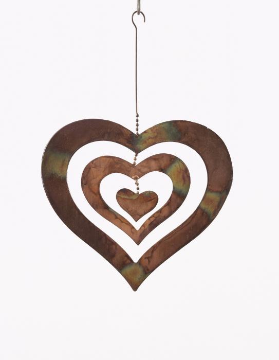 Ancient Graffiti Heart Medium Hanging