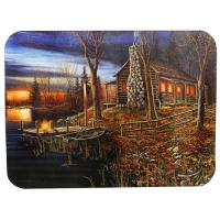 Rivers Edge Products Cabin Scene Cutting Board