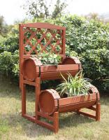 Convenience Concepts  Double Barrel Planter (Red Cedar)