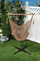 Bliss Hammocks Tahiti Cotton Rope Hammock Chair - Brown