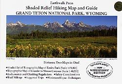 Earthwalk Press Grand Teton Np Hiking Map & Guide