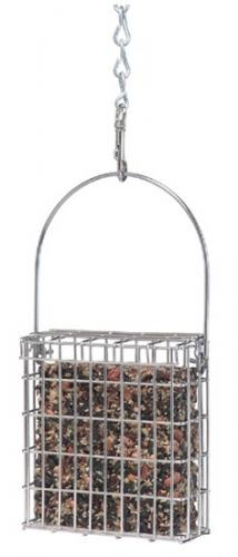 Droll Yankees Premium Single Suet Feeder, Stainless