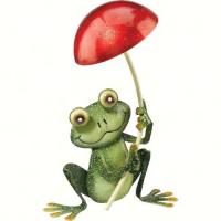 Regal Art & Gift Frog with Mushroom