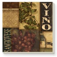 Counter Art Wine Labels Collage Coasters Set of 4