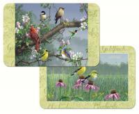 Counter Art Beautiful Songbirds Reversible Placemat Plastic