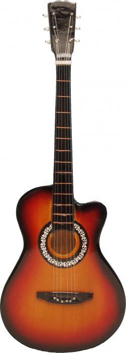 Songbird Essentials Orange & Black Acoustic Guitar Single Wallhook