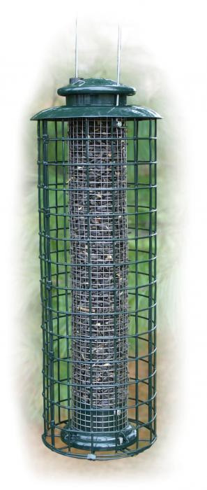 Woodlink Caged Screen Sunflower Tube Bird Feeder
