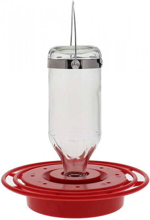 Best-1 8 Ounce Clear Glass Hummingbird Bird Feeder