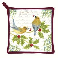 Alice's Cottage Cedar Waxwing Potholder