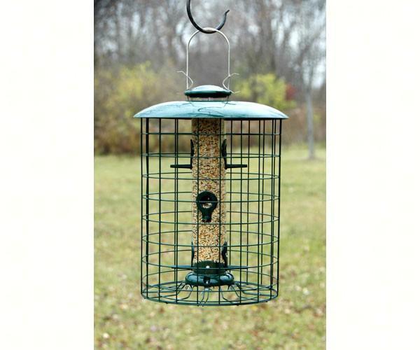 Woodlink Caged Seed 6 Port Tube Bird Feeder