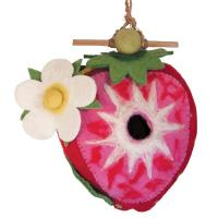 DZI Handmade Designs Strawberry Felt Birdhouse