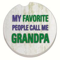 Counter Art Grandpa Car Coaster