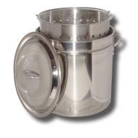 King Kooker #KK36SR-36 Qt. Stainless Steel Pot - Bskt - Lid