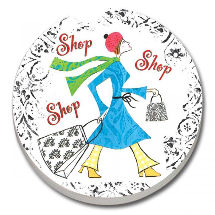 Counter Art Shop, Shop, Shop Car Coaster