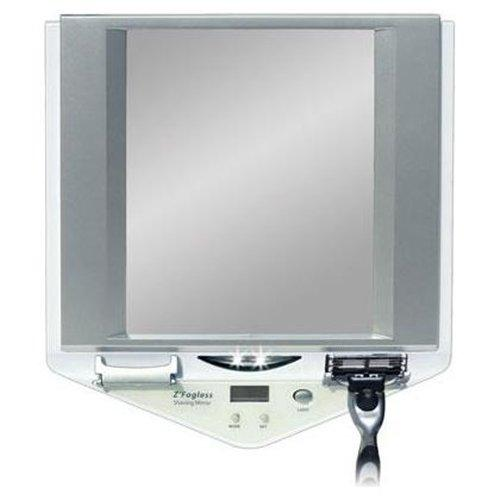 Zadro Z Fogless Lighted Shower Mirror With Clock