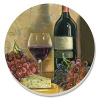 Counter Art Vintner's Wine Coasters Set of 4