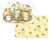 Counter Art Chickadees & Butterflies Reversible Placemat
