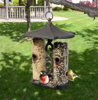 Whitehall Twin Tube Bird Feeder - Oil Rub Bronze